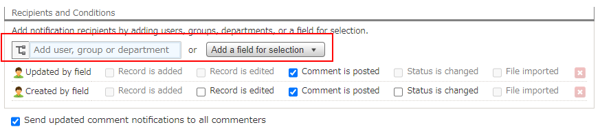 Setting Up Notifications with Conditions of Actions on Apps